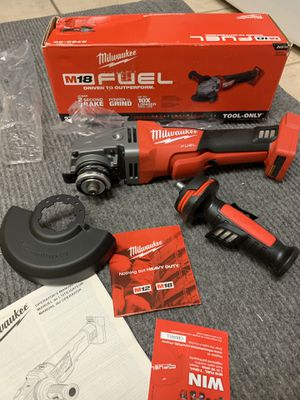 "Milwaukee M18 Fuel 4 1/2 -5"" Braking Grinder Cordless with Paddle Switch Model 2783-20 Brushless motor New w/ Warranty price is for each for Sale in Corona, CA"