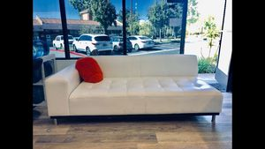 White Leather Couch / Sofa for Sale in City of Industry, CA