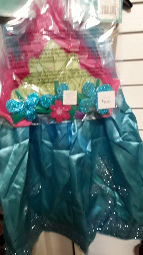 Trolls poppy costume size small 4-6x