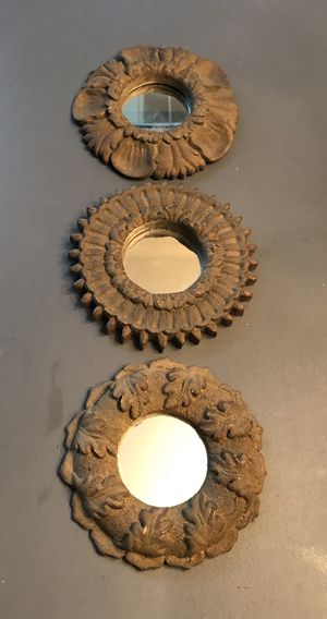 """Set of 3 - 6"""" grey/bronze wall mirrors for Sale in Katy, TX"""