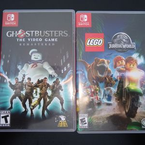 Nintendo Switch Games Ghostbusters Jurassic World for Sale in Salinas, CA