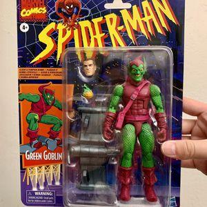 Marvel Legends Retro Vintage Spider-Man Green Goblin Figure for Sale in Clovis, CA