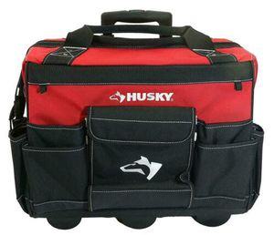 Husky 18 in. Zipper Top Rolling Weather Resistant Tool bag Tote for Sale in Hampton, VA