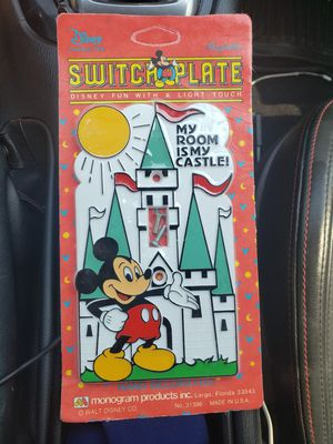 Vintage Disney Mickey Mouse Light Switch Wall Cover Plate NEW mickey castle for Sale in El Paso, TX