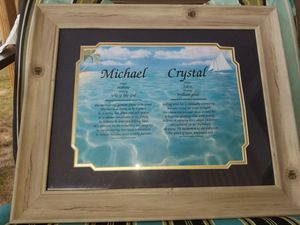 Picture and Frame of the Meaning of the names Michael and Crystal for Sale in Bellview, FL