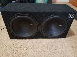 """2 12"""" Rockford Fosgate P1 Subwoofers and Box for Sale in Long Beach, CA"""