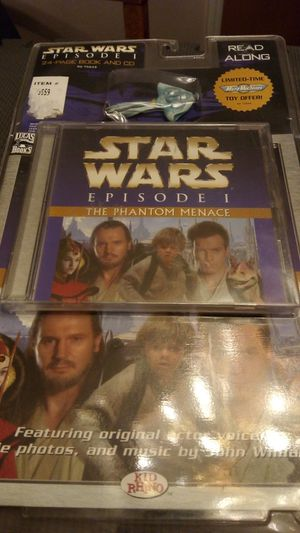 Star Wars Episode I Read Along Book & CD & Limited Micro Machine Toy for Sale in Atwater, CA
