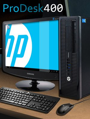 HP ProDesk 400 G1 SFF Intel Core i3 (4130) 3.40GHz 8GB DRR3 500GB HDD for Sale in Clifton, NJ