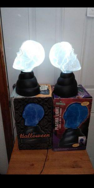 Halloween skull plasma light (selling both) for Sale in Gardena, CA