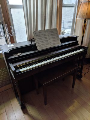 Original pine wood piano with ivory keys for Sale in New York, NY