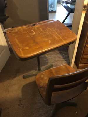 Old ink style school desk for Sale in Spring Hill, FL