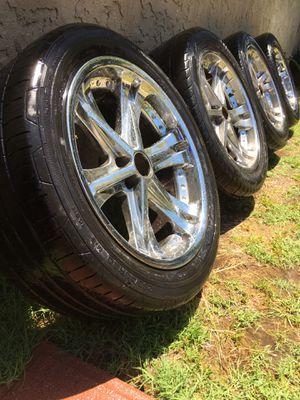"20 "" rims / wheels and tires 6 - lug for Sale in Bonita, CA"
