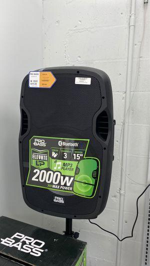 Pro bass 2000w speaker for Sale in Bartow, FL