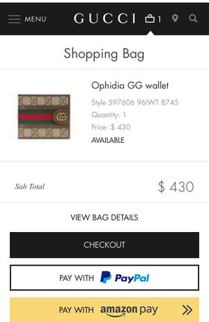 Gucci men's wallet for Sale in Mint Hill, NC