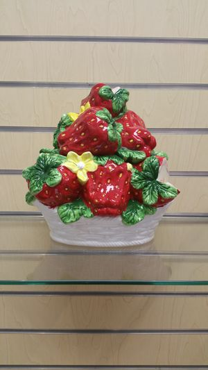 Ceramic Cookie Jar / Storage, etc..(new) strawberry for Sale in Holladay, UT