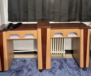 Double Nail desk with storage great quality pick up only for Sale in Buffalo, NY