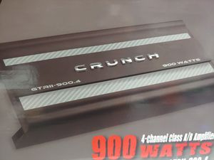 Car amplifier : CRUNCH 900 watts 4 channel built in crossover mosfet power supply ( brand new price is lowest shipping available) for Sale in Santa Ana, CA