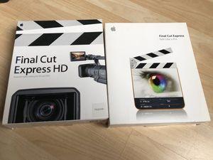 Apple Final Cut Express/Final Cut Express HD bundle for Sale in Wheeling, IL