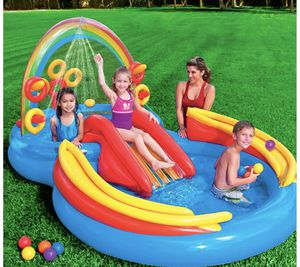 Inflatable Rainbow Rings Pool Play Center Kids Girls Boys for Sale in Los Angeles, CA