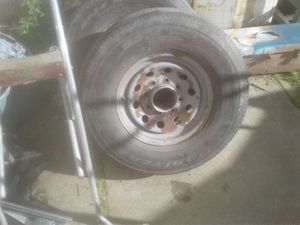 4 extra heavy duty 8 lug rims tires for trailer for Sale in Manteca, CA