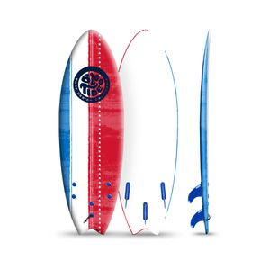 Bloo Tide 6' Red White & Blue Soft Top Surfboard, Fins & Leash Include for Sale in Houston, TX