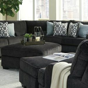 Best price Charenton Charcoal Sectional $39 down payment for Sale in Arlington, VA