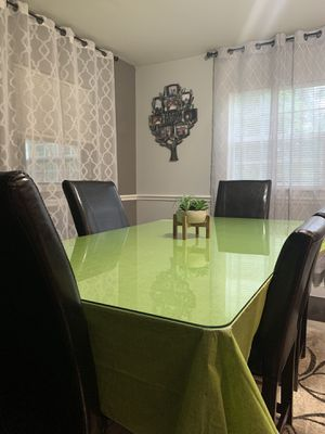 Table with glass and chairs for Sale in Oviedo, FL