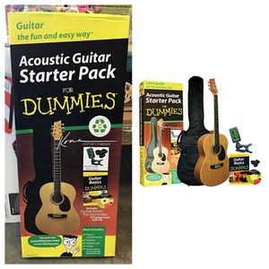 K394D Kona Acoustic Guitar Starter Pack For Dummies® for Sale in Stafford, TX