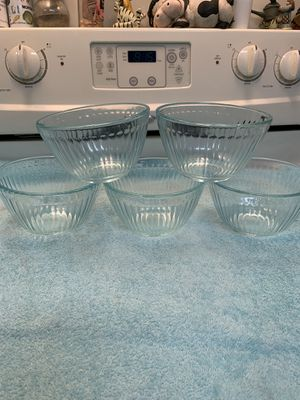Set of 5 Pyrex bowls 7401-3 for Sale in Boca Raton, FL
