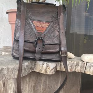 "LEATHER SHOULDER BAG MESSENGER 11"" x 9"""" for Sale in Hollywood, FL"
