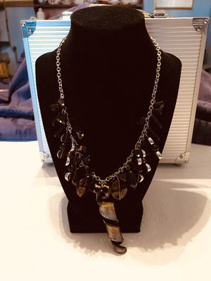 """21"""" inch long Black, Amber and Iridescent color necklace for Sale in Hokendauqua, PA"""