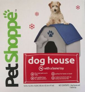 Pop Up Indoor Dog House for small dogs (Bone not included) for Sale in Chicago, IL