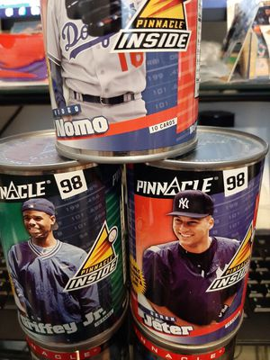 Baseball Cards in the Can Factory Sealed 5 cans lot. for Sale in Kissimmee, FL