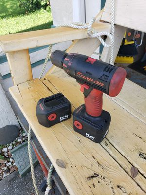 """Snap on14.4 drill 1/2""""chuck,2 speed and reverse.has 2 batteries no charger.ser#13460247,model #cdr4450 for Sale in Sebastian, FL"""