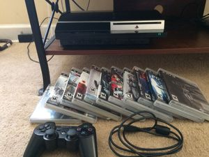 PS3 Phat 80g (Non backwards compatible) with PS3 Games for Sale in Reidsville, NC