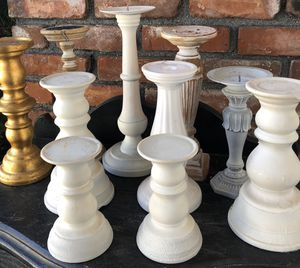 10 Shabby chic candle holders for Sale in La Puente, CA