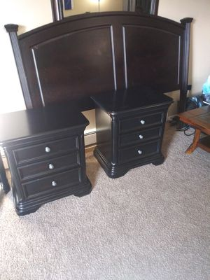 King size bed frame and matching night stands for Sale in Colorado Springs, CO