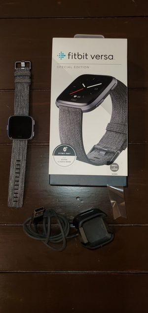 Fitbit Versa Special Edition with brand new bands for Sale in Boca Raton, FL