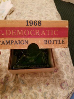 1968 Democratic campaign glass bottle in original box for Sale in West Palm Beach, FL