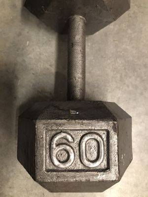 1-60 pound cast iron hex dumbell for Sale in Miami, FL