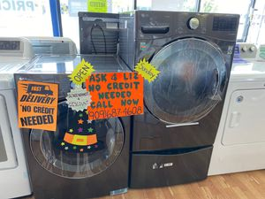 Twin washer bss LG electric set 🎃Liz🎃es su Descuento 📲9o9🔺687🔺46o8📲NO credit needed🎪NO ocupa credito🧛🏼‍♀️SAME or NEXT day Delivery🎪Matricula & ITIN O for Sale in Claremont, CA