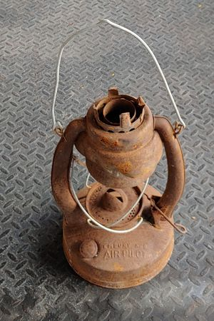 Antique Embury No.2 Air Pilot Oil Lamp. DIY Planter Decor for Sale in Burlington, NC