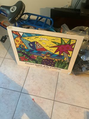Romero Britto coconut grove poster for Sale in Miami Beach, FL