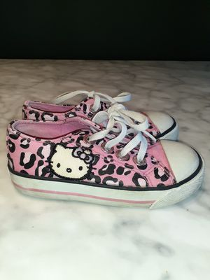 Toddler Girls Hello Kitty Shoes Size 8 for Sale in Garland, TX