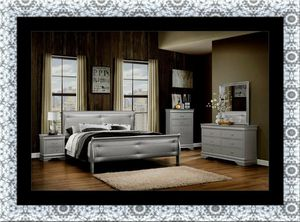Grey Marley 11pc bedroom set free mattress and delivery for Sale in Gambrills, MD