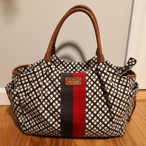 KATE SPADE New York brown Canvas and leather trims Shoulder Bag Purse for Sale in Boston, MA