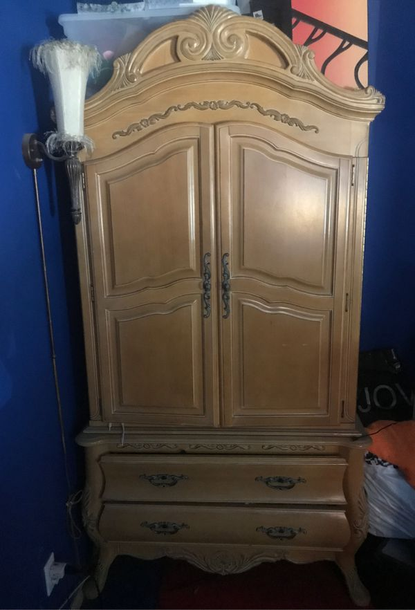 Dresser, Armoire and nightstand