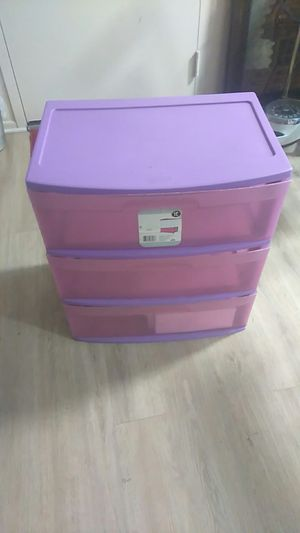 3 plastic drawer storage for Sale in Los Angeles, CA