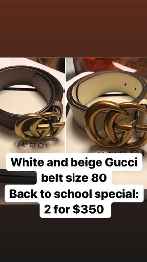 Double g gucci belt size 80 for Sale in Hialeah, FL