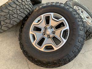 "17"" Jeep Wrangler Rubicon rims wheels LT265 70R17 tires LT 265 70 17 for Sale in Rio Linda, CA"